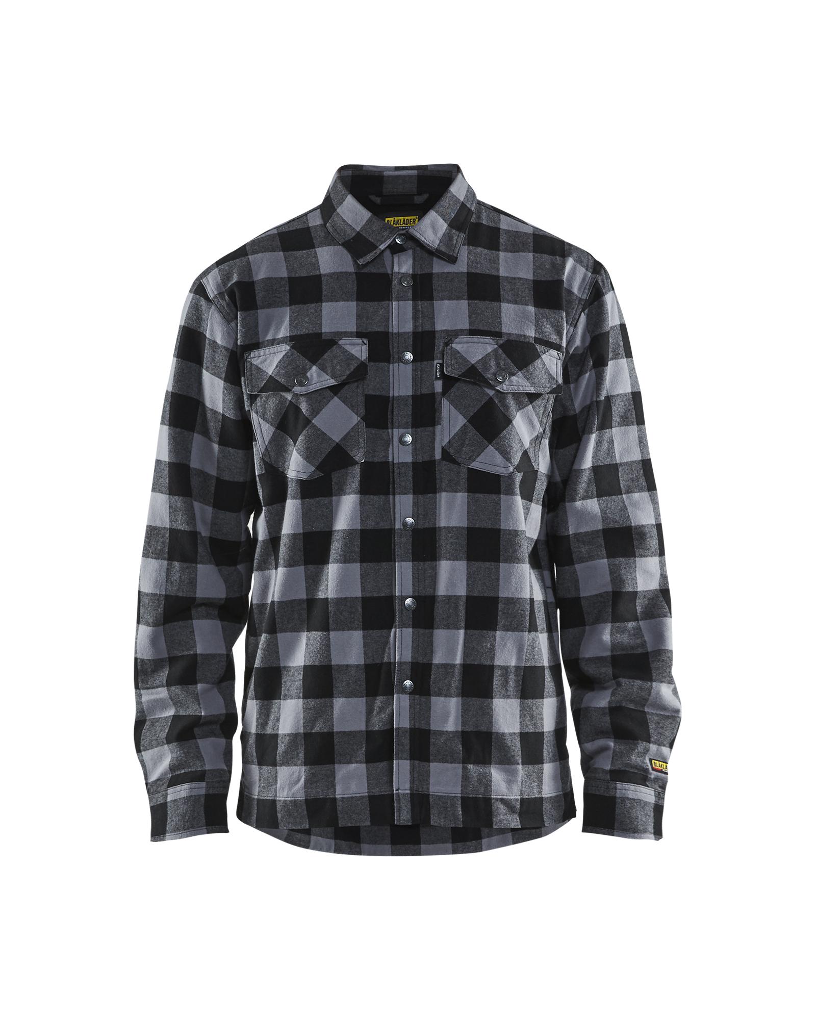 Flanellskjorte foret RødSvart